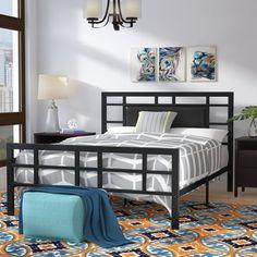 Top Brand Bruce Upholstered Platform Bed By Zipcode Design Welded Furniture, Iron Furniture, Home Furniture, Furniture Design, Industrial Furniture, Metal Platform Bed, Upholstered Platform Bed, Steel Bed Design, Adjustable Beds