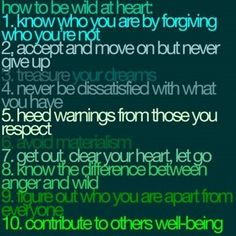 how to be wild at heart