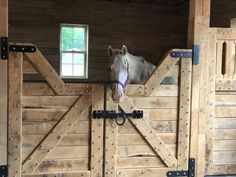 Horse Stalls, Horse Barns, Horses, Goat Barn, Farm Barn, Dream Stables, Dream Barn, Equestrian Stables, Amish House