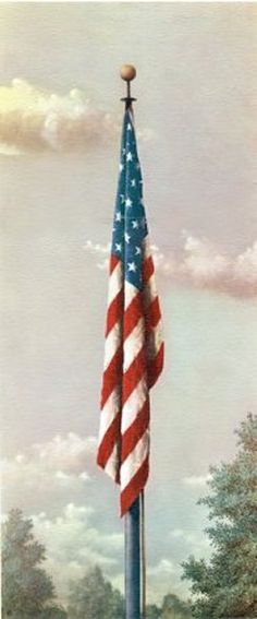 """Our Flag"" by Fred Tripp - has a very interesting story. I'm proud to have two of these prints in my home."