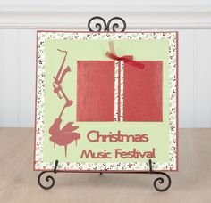 Christmas Music Festival layout Cricut project #cricut