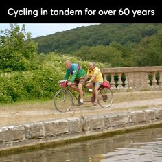 Tandem cyclists Graeme & Betty still going after 60 years Riding Bikes, Tandem, Stay Fit, Life Is Good, Cycling, Bicycle, Facebook, Couples, World