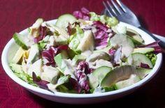Radicchio Salad with Tahini Lemon Drizzle