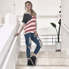 #FashionConfessions: In the honor of the President's Day , I thought I'd share my American pride 🇺🇸 👱🏻‍♀️street style look on the blog. Click on the link below to see more photos on iHeartMarina.com blog! #marinaberberyan #iheartmarina  http://iheartmarina.com/presidents-day-street-style-look-i-heart-marina#/