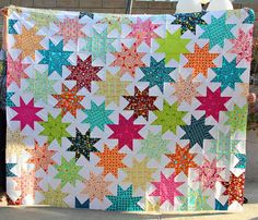 Penelope's Star Quilt by Darci - Stitches&Scissors, via Flickr