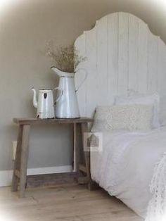 Stoer oud houten hoofdbord,bed,hoofd bord,boxspring..sober