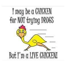 LIVE CHICKENS DON'T TRY DRUGS Poster