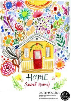 Home Sweet Home. Artwork: August Wren (aka Jennifer Orkin Lewis)