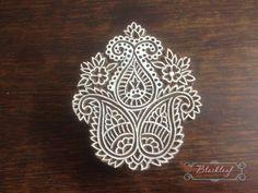 Wood Block Printing Hand Carved Indian Wood Block Printing Stamp Tree of Life Paisley Motif.
