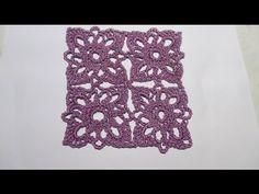 Квадратный мотив крючком. MC  crochet motif. Lesson knitting. - YouTube