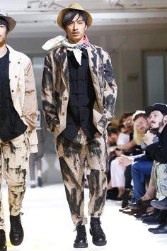 Yohji Yamamoto, Menswear, Spring Summer, 2015, Fashion Show in Paris http://blog.cruvoir.com/yohji-yamamoto-spring-summer-2015-runway/