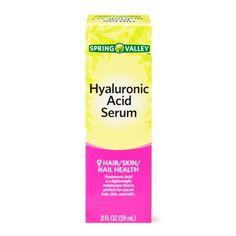 Spring Valley Hyaluronic Acid Serum, 2 Oz Image 1 of 8 Hyaluronic Serum, Vitamin C Serum, Spring Valley, Hair Skin Nails, Hair Serum, Skin So Soft, Healthy Dinner Recipes, Serum, Living Room