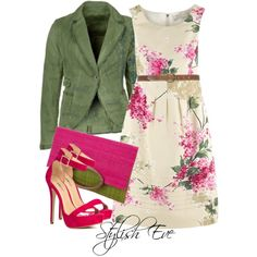 Noha by stylisheve on Polyvore  Love the green and the floral!!