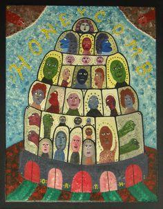 Diese Arbeit des amerikanischen Künstlers King Orth, neu zu sehen auf www.aussenseiterkunst.ch neben 900 Werken 50 weiterer Künstler (Dem Künstler King Orth ist eine separate Pinterest-Pinnwand gewidmet)