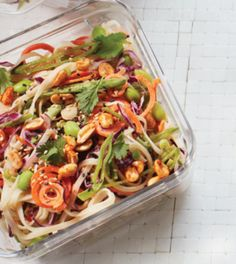 Spicy Thai Noodle Salad with Sriracha Roasted Peanuts Recipe - Clean Eating Magazine