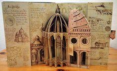 """""""Renaissance Art"""" Pop-Up Book www. - """"Renaissance Art"""" Pop-Up Book www. Da Vinci Inventions, Pop Book, Pop Up Books, Pop Up Karten, Book Libros, Classical Art Memes, Renaissance Kunst, Paper Engineering, Book Sculpture"""