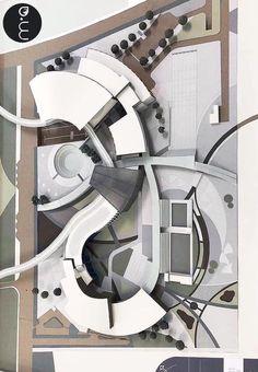 Maquette Architecture, Concept Models Architecture, Architecture Model Making, Landscape Architecture Design, Stadium Architecture, Architecture Student, Architecture Plan, Circular Buildings, Kindergarten Design