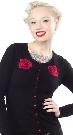 This cardigan is one of our favourite rockabilly wardrobe staples! #blamebetty #rockabilly #cardigan