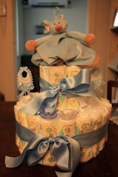 Diaper cake. Totally awesome.
