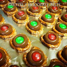 Pretzel chocolate Bites