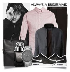 """Bridesmaid men wear"" by madeinmalaysia ❤ liked on Polyvore featuring Dolce&Gabbana, Giorgio Armani, LE3NO, Gucci, NIKE, Skagen, men's fashion, menswear and alwaysabridesmaid"