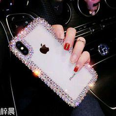 Luxury Fashion Rhinestone Crystal TPU Soft Phone Case - Iphone Plus Glitter Case - Iphone Plus Glitter Case ideas - Iphone 8 Plus, Iphone 7, Apple Iphone, Iphone Phone Cases, Ipod, Smartphone Covers, Girly Phone Cases, Diy Phone Case, Glitter Iphone 6 Case