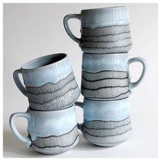 Some mugs made it up on Etsy #mugshotmonday #pottery #ceramics #meditation