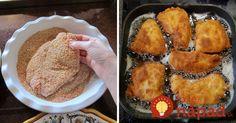 Perfektný trik na prípravu rezňov: Pridajte do strúhanky túto surovinu a budú omnoho lepšie! Lamb, French Toast, Muffin, Pork, Cooking Recipes, Breakfast, Ideas, Lunches, Salads