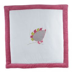 Craquez pour ce tapis de parc pour bébé fille 100x100 cm en velours tout doux et à mini prix !