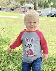 Monogrammed Bunny Easter Shirt/Toddler Easter Shirt/Toddler Monogram Shirt/Toddler Raglan/Kids Easter Shirt/Toddler Bunny Shirt by LittlestCreationsCo on Etsy