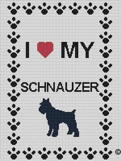clothes patterns for schnauzers | CROCHET PATTERNS ETC I LOVE MY SCHNAUZER CROCHET AFGHAN PATTERN GRAPH ...