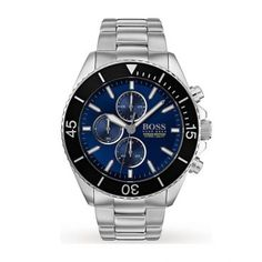 Hugo Boss Men's Chronograph Ocean Edition Stainless Steel Bracelet Watch In Silver Casual Watches, Watches For Men, Elegant Watches, Beautiful Watches, Herren Chronograph, Hugo Boss Man, Mens Gift Sets, Stainless Steel Bracelet, Casio Watch