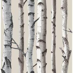 Paperitapetti Distinctive Puu Hopea - Bauhaus