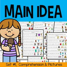 Reading Sentences with Pictures for the Main Idea - Sight Words ComprehensionThis ten page file has seven sentences on each page with sight words included. The objective is to read the sentences and circle the correct picture that shows the main idea of the sentence. Your students will practice read...
