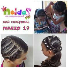 Pretty little girl braided hairstyles Little Girl Braid Hairstyles, Little Girl Braids, Princess Hairstyles, Braids For Kids, Girls Braids, Cute Hairstyles, Braided Hairstyles, Natural Hair Art, Natural Hair Styles