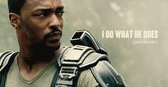 I do what he does (just slower) || Sam Wilson || Captain America TWS || 500px × 260px || #quotes