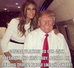 Melania and Donald on their plane