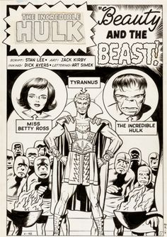 "Original Comic Art:Splash Pages, Jack Kirby and Dick Ayers Incredible Hulk #5 Tyrannus""Beauty and the Beast"" Splash Page 1 Original Art (Marvel, 1... Image #1"