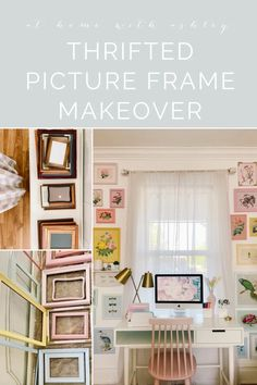 used picture frames makeover. DIY projects reusing thrift store vintage frames in a fun and creative way. This upcycle takes dated wall art and makes it fresh by painting it a rainbow. Home Improvement Projects, Home Projects, Diy Home Accessories, Diy Home Repair, Home Upgrades, Cozy Room, Do It Yourself Home, Decorating On A Budget, E Design