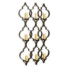 Bronze Quatrefoil 9-Pillar Candle Holder | Kirklands