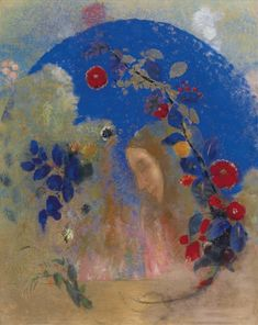 Odilon Redon - PROFIL SOUS UNE ARCHE  Dimensions:  26.61 X 21.18 in (67.6 X 53.8 cm) Medium:  pastel on paper Creation Date:  1905 ..