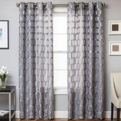 Rochelle Grommet Top Window Curtain Panel - BedBathandBeyond.com