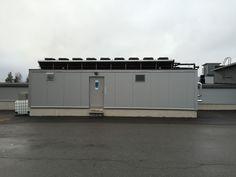 Lappi Areena jäähallin Findri ICE kylmäkonehuonekontti. Kontti valmistettiin Findrin Tuusulan tehtaalla ja siirrettiin rovaniemelle.