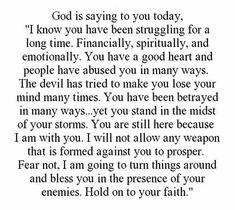 Hold on to your faith!