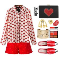 How To Wear Hearts Outfit Idea 2017 - Fashion Trends Ready To Wear For Plus Size, Curvy Women Over 20, 30, 40, 50