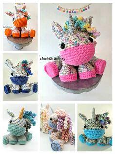 Crochet Unicorn Pattern Free, Crochet Horse, Crotchet Patterns, Crochet Animal Patterns, Stuffed Animal Patterns, Crochet Animals, Crochet Baby, Free Crochet, Free Pattern