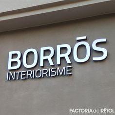 #retol #borrós #interiorisme #lletrescorporatives #blackandwhite #iluminacio #led #manresa #factoria #factoriadelretol #wearefactoria #fdr Led, Adidas Logo, Logos, Factors, Vinyls, Logo