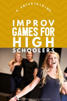 Improv games are great ice breakers. They are also a fun way to practice basic public speaking skills. Your teens will love playing these games.