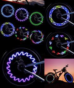 [Visit to Buy] Bike Light CYCLE ZONE LED Motorcycle Cycling Bike Bicycle Tire Wheel Valve Flashing Spoke Light Brand New Apr28 #Advertisement