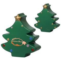 """Custom Printed Christmas Tree Stress Relievers: Available Color: Green. Product Size: 2-7/8"""" x 1"""" x 3-1/4"""". Imprint Area: 1"""" x 1.25"""". Carton Weight: 28 lbs. Packaging: 350. Material: Polyurethane. #customstressreliever #xmastree #promotionalproduct #customproduct #christmasgiveaways"""